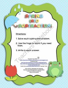1000+ images about Subtraction on Pinterest   Subtraction activities ...