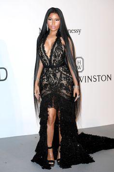 Nicki Minaj in Roberto Cavalli Couture at the amfAR Gala, Cannes 2017