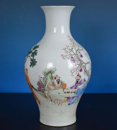 #Antiques #Gifts FINE LARGE ANTIQUE CHINESE FAMILLE ROSE PORCELAIN VASE MARKED JIAQING RARE O0891 #Collectors