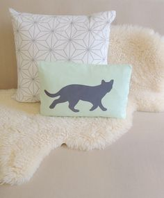 Cat Pillow Cover - Custom Colors by VixenGoods on Etsy https://www.etsy.com/listing/218596799/cat-pillow-cover-custom-colors