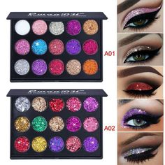 Beauty & Health Creative Love Alpha 13 Colors Eye Shadow Flash Powder Super Bright Pearl Shining Bright Glitter Powder Pink Diamond Brand Makeup