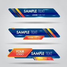 Lower third white and colorful template modern contemporary. Banner Design Inspiration, Logo Samples, Studio Background Images, Lower Thirds, Catalog Design, Typographic Design, Game Logo, Photoshop Design, Letter Templates