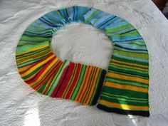 2013 Temperature Scarf: love this idea! Every day add a row that corresponds with the temperature of the day.