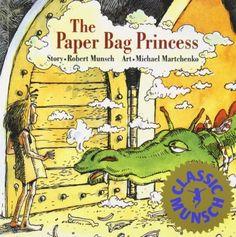 The Paper Bag Princess (Classic Munsch) by Robert Munsch http://www.amazon.com/dp/0920236162/ref=cm_sw_r_pi_dp_TliStb1AYV5T6JFT