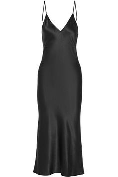 Black silk-satin Slips on silk Dry clean Satin Midi Dress, Satin Dresses, Silk Dress, Dress Up, Dress Shoes, Shoes Heels, Simple Frocks, Black Midi, Black Slip Dress