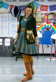 Cassie Stephens: What the Art Teacher Wore #119 and Spooky Ensembles of Halloween Past