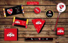 #KitCumple #CandyBar #Independiente Etiquetas para golosinas. #tita #rhodesia #layapa #turron #picodulce #paleta #marroc #imprimible #fiesta #cumple #futbol #infantil