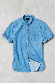 CPO Stevens Denim Short-Sleeve Shirt - Urban Outfitters