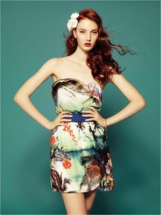 Codie Young Wows in Tropical Prints for Stradivarius' June Collection