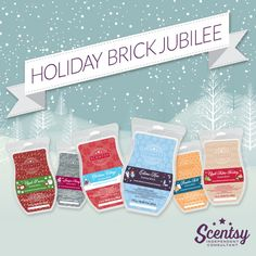 Stock up on your favorite seasonal scents with limited-edition Scentsy Bricks. Choose from six of our most beloved holiday fragrances:  NEW Apple Butter Frosting Apple S'mores — Orville's favorite!  Christmas Cottage Eskimo Kiss Juniper Berry — Heidi's favorite!  Pumpkin Roll  Scentsy Bricks are available for $20 during November 2015 only, or while supplies last at https://jenniferlynnmcmahan.scentsy.us