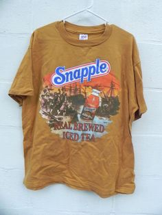 Ridiculous Vintage Snapple T-Shirt Goldenrod by BaltoVintage