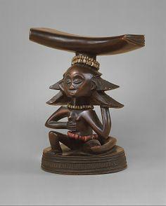 Headrest: Female Caryatid Figure Master of the Cascade Coiffure