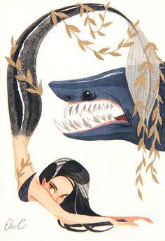 Elsa Chang, Shark - Splish Splash, Nucleus Gallery