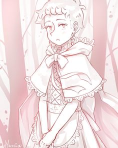Castiel as Little Red Riding Hood - on point  ( • ᴗ • )و ̑̑