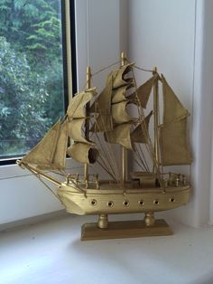 Spray Painted Captain Hook Style Ship