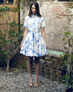 LOVISA dress in blue pinups print