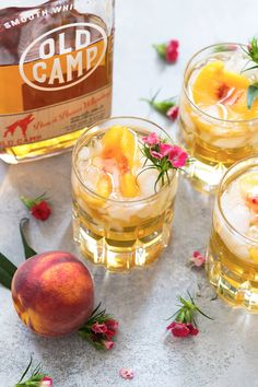 Sweet Georgia Peach Drink | Bourbon Cocktail