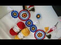 #evdekal #sendeyap #mandalamotif Mandala masa örtüsü motif yapımı 2 - YouTube