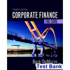 Marketing core 6th edition books pinterest business marketing corporate finance the core 4th edition berk test bank fandeluxe Choice Image