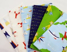 "Six 18""x22"" Fat Quarters - ""Jack & Lulu"" ""All Hands on Deck"" on Etsy, $15.50"