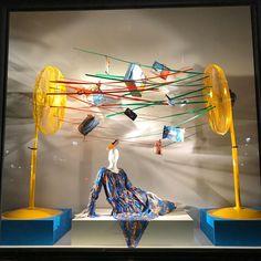 """BERGDORF GOODMAN, 5th Avenue, New York, """"Getting windy with Loewe"""", pinned by Ton van der Veer"""