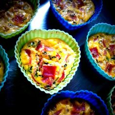 Glutenfri hytteost muffins med skinke