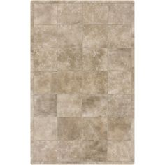 Hand-Crafted Mariah Animal Leather Rug (2' x 3') (Tan-(2' x 3')), Tan, Size 2' x 3'