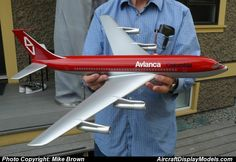 A trophy one-off model. A fabulous scale Avianca 720 made in the Boeing model shop. If you'd like this model sell your car! Boeing 720, Model Shop, Flight Attendant, Model Photos, Scale, Aircraft, Models, Shopping, Model Headshots