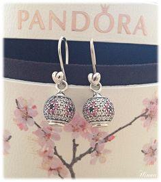 Sweet cherry blossom Pandora charm earrings!