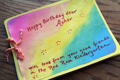Birthday Book from Kindergarten by SarabellaE / Sara / Love in the Suburbs, via Flickr