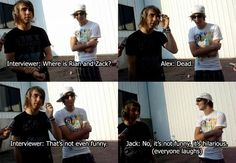 All Time Low// I'm glad the interviewer noticed that Rian and Zack are always missing