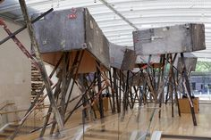 Phyllida Barlow Installation view, 'tryst', Nasher Sculpture Center, Dallas TX, 2015 Photo: Kevin Todora