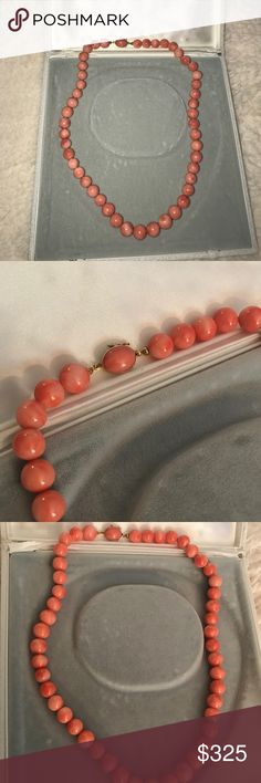 Genuine Coral Necklace from Caserta, Italy Real Coral necklace from Italy. Never worn comes with jewelry box. Made with 18K Gold clasp. Beautiful unique piece in mint condition. Il Monile Jewelry Jewelry Necklaces