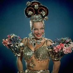 Carmen Miranda. Woohoo...can it be any MORE over the top???!!! Great!