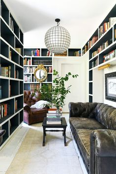 Make Life Beautiful with Leanne Ford Ford Interior, Interior Design, Custom Bookshelves, Bookcases, Cozy Family Rooms, Country Living Magazine, Home Again, Dorm Rooms, Living Rooms