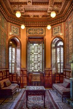 A room inside Mohammad Ali castle, Old Cairo, Egypt.