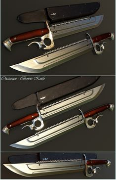 Chainsaw-Bowie Knife by mrhd.deviantart.com on @deviantART This is awesome.