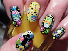 Dia de los Muertos. I couldn't do these, but they just look so cool.