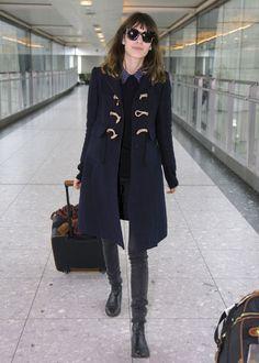 Toggle coat, grey jeans, low-heel chelsea boots