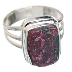 Rough Russian Eudialyte 925 Sterling Silver Ring Size 8.75 RING764007