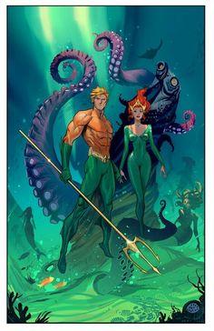 Aquaman and Mera by Dan Mora
