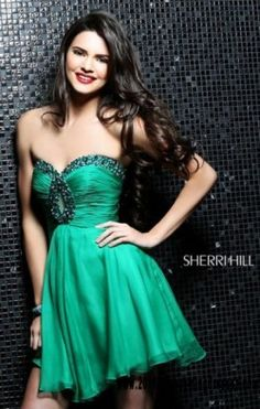 Sweetheart Neck Sherri Hill 2944 Beaded Keyhole 2016 Emerald Chiffon Short A-Line Cocktail Dresses On Sale [Sherri Hill 2944 Emerald] – $130.00 : 2016 Homecoming & Cocktail Dresses Online Sale|Outlet|Custom|Cheap