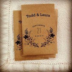 Great Eco Friendly Wedding Favor Idea - 100 Custom Packs of Organic Seeds