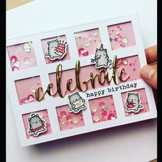 Do as a baby card with baby items in blocks. Either baby or welcome in big letters. Diy Crafts For Girls, Diy Arts And Crafts, Paper Crafts, Scrapbook Cards, Scrapbooking, Mama Elephant Stamps, Karten Diy, Dog Cards, Stampin Up