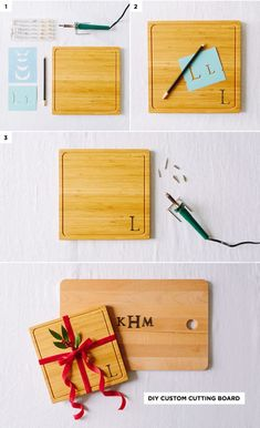 DIY Custom Cutting Board - 3 Simple Budget-Friendly DIY Gifts #holiday #gifts #DIY #theeverygirl