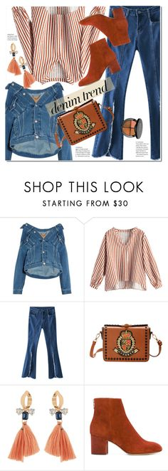 """""""Flare Up: Wide-Leg Jeans"""" by duma-duma ❤ liked on Polyvore featuring Balenciaga, rag & bone, Sephora Collection, denimtrend and widelegjeans"""