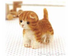 Aguja japonesa de fieltro mascota DIY Kit - Cat - Sachiko Susa - Kawaii Hamanaka - KIt de fieltro fácil - Munchkin Animal Kawaii Cat - F16