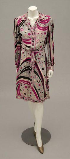 Woman's dress   Designed by Emilio Pucci (Italian, 1914-1992)   Italy, circa 1960   Printed silk jersey   Philadelphia Museum of Art