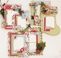 Holly Jolly Christmas inside pages gallery image - layouts for december daily album Christmas Mini Albums, Christmas Scrapbook Layouts, Mini Scrapbook Albums, Christmas Minis, Scrapbook Cards, Scrapbooking Ideas, Crafts With Pictures, Christmas Paper Crafts, Cardmaking And Papercraft