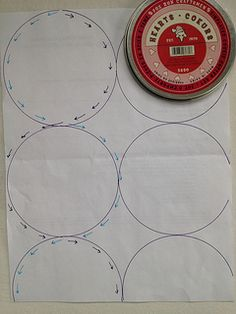 Circle machine quilting diagram | Here's a little diagram on… | Flickr - Photo Sharing!